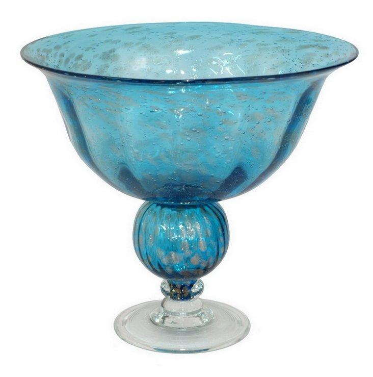 """12"""" Fluted Glass Vase"""