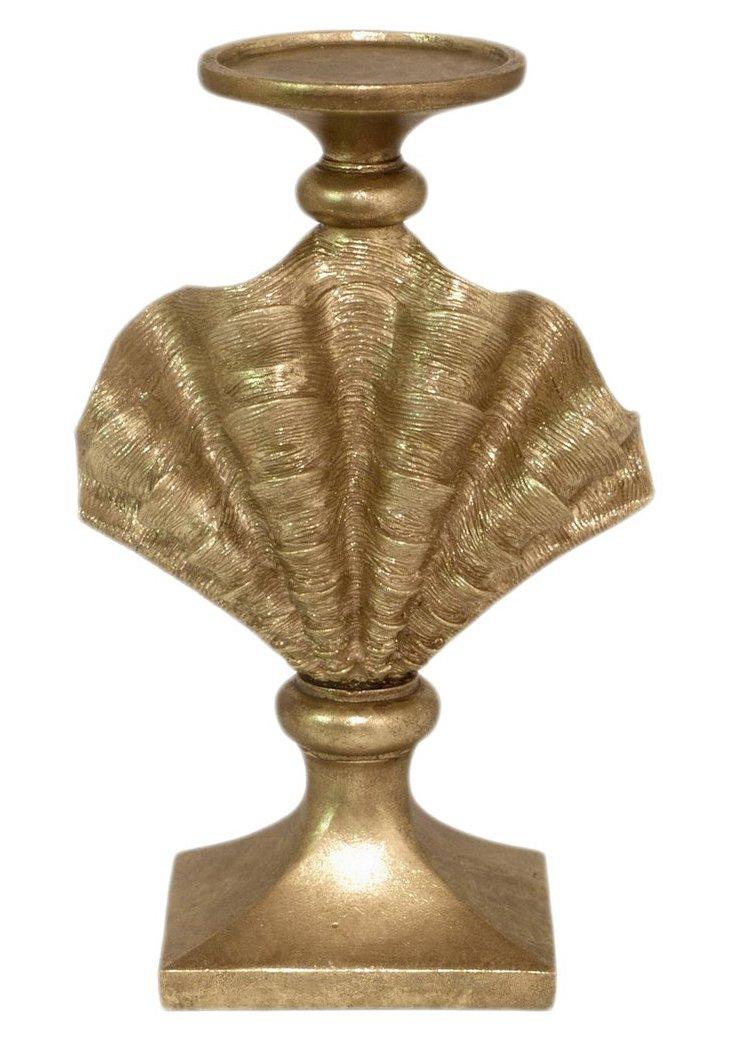 "12"" Seashell Candleholder, Gold"