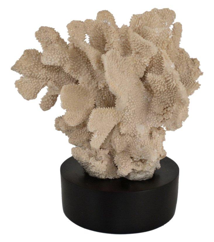 """14"""" Decorative Coral Figurine, Off-White"""