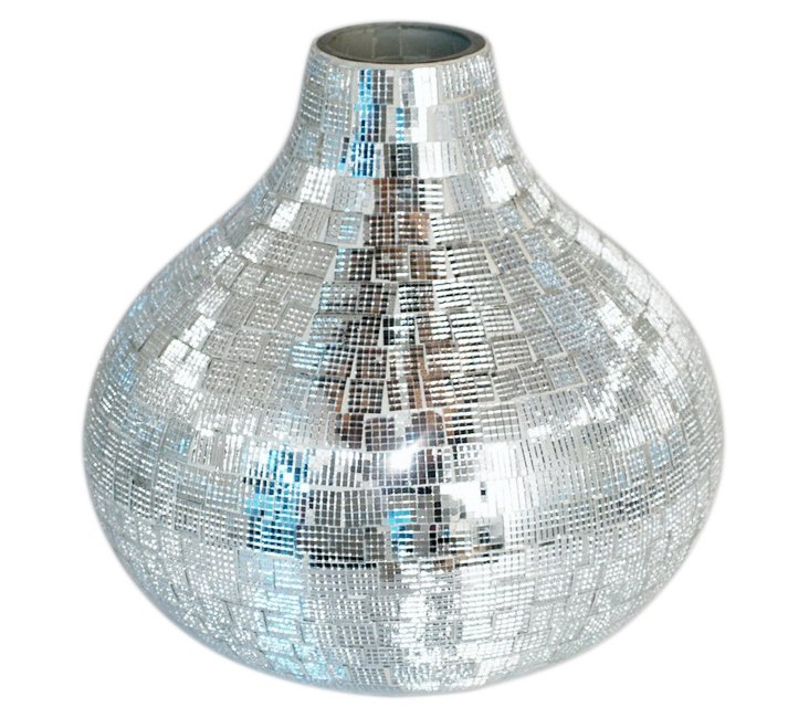 "8"" Mosaic Glass Vase"