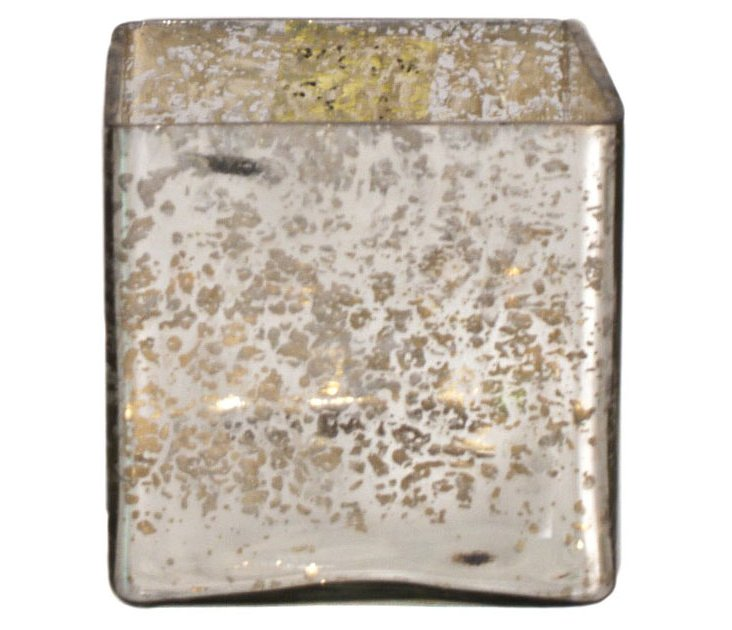 "4"" Mercury Glass Votive Holder"