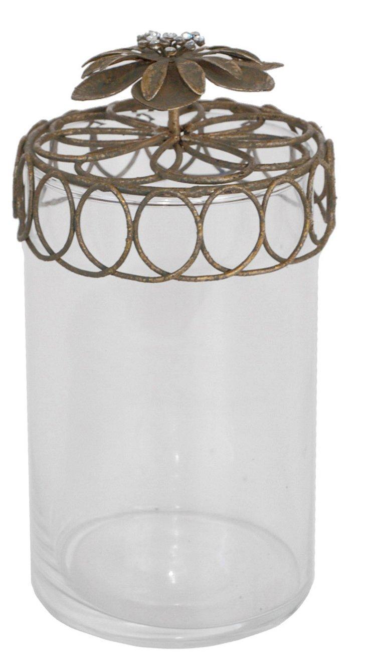 """8"""" Glass Jar w/ Decorative Lid"""