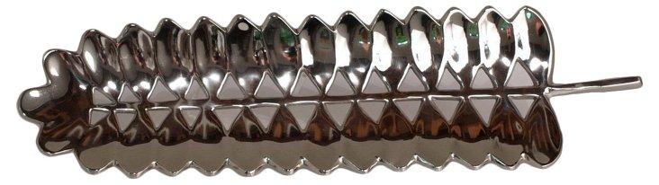 """28"""" Silver Leaf Tray"""
