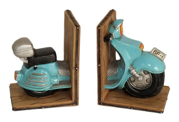 Pair of Scooter Bookends, Multi