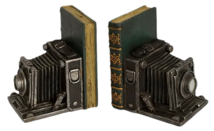 Pair of Camera Bookends