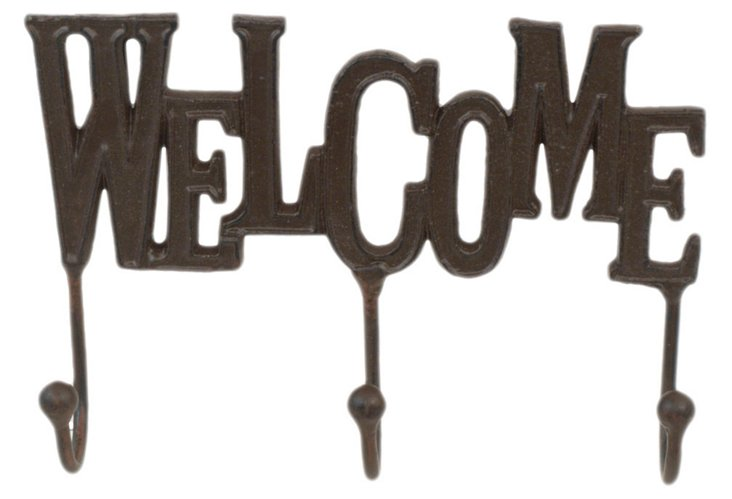 """Welcome"" Wall Hooks"