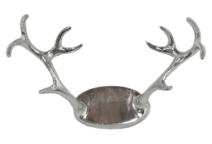 Antlers Wall Decor, Silver