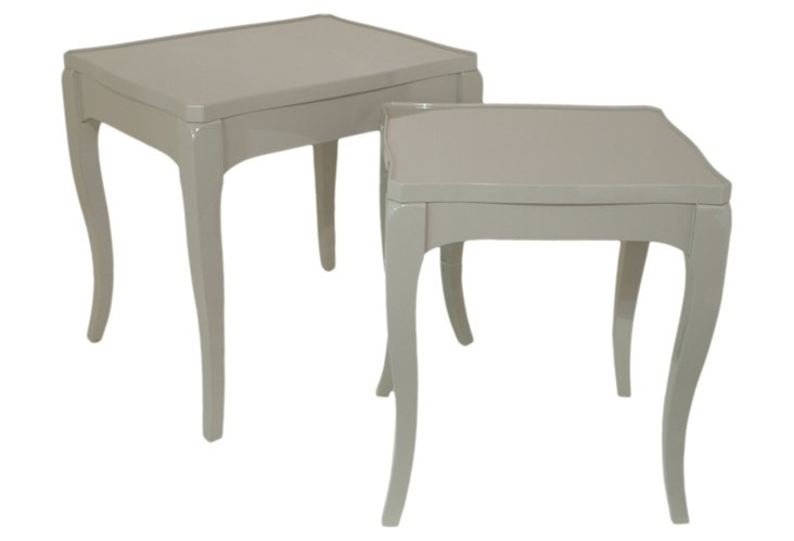 Gray Lillian End Tables, Set of 2