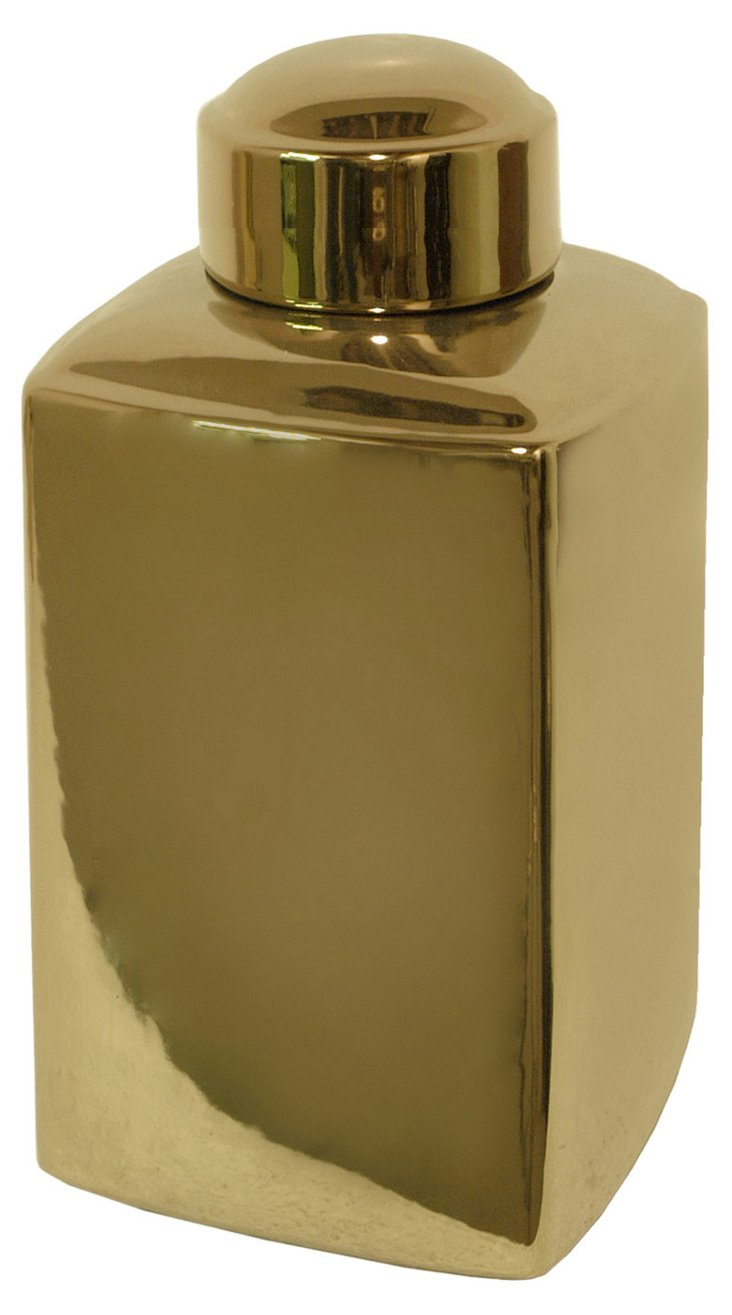 """18"""" Gold Plated Jar"""