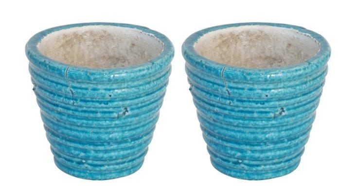 "S/2 5"" Ceramic Vases"