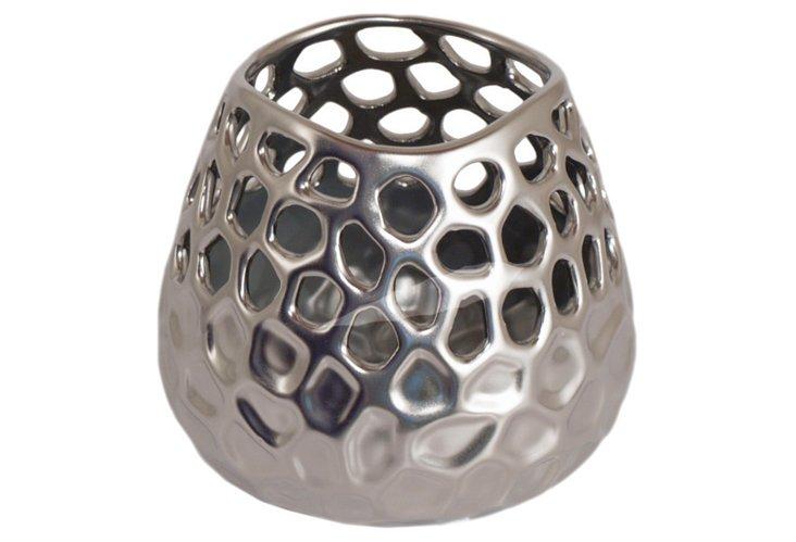 Pierced Ceramic Votive