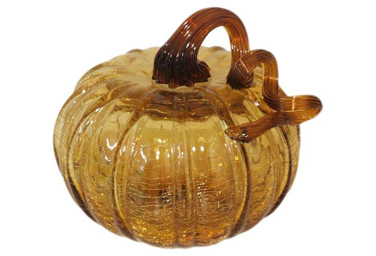 "5"" Glass Pumpkin, Solid"