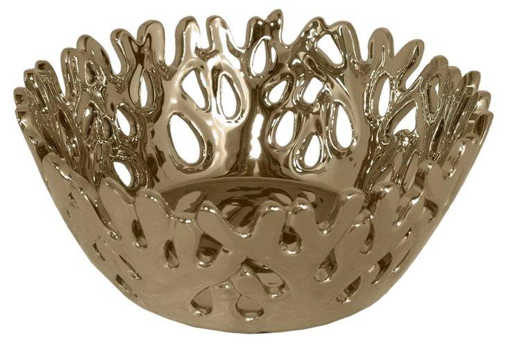 "12"" Coral Bowl, Bronze"