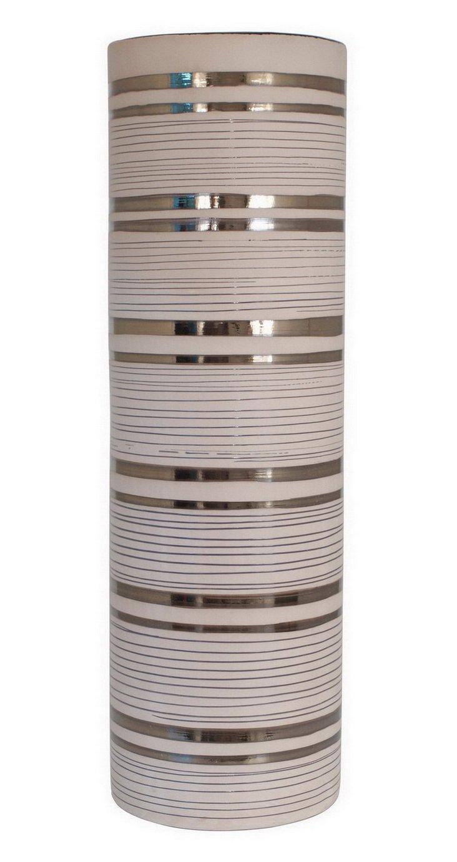 "28"" Bronze Striped Vase"