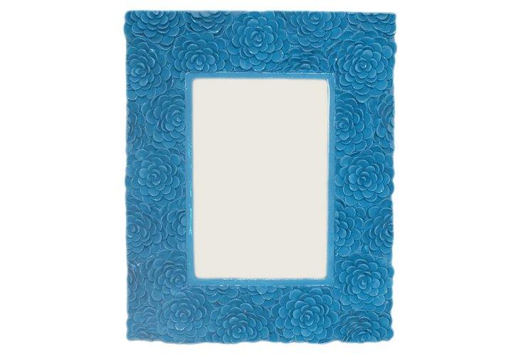 4x6 Blue Floral Frame