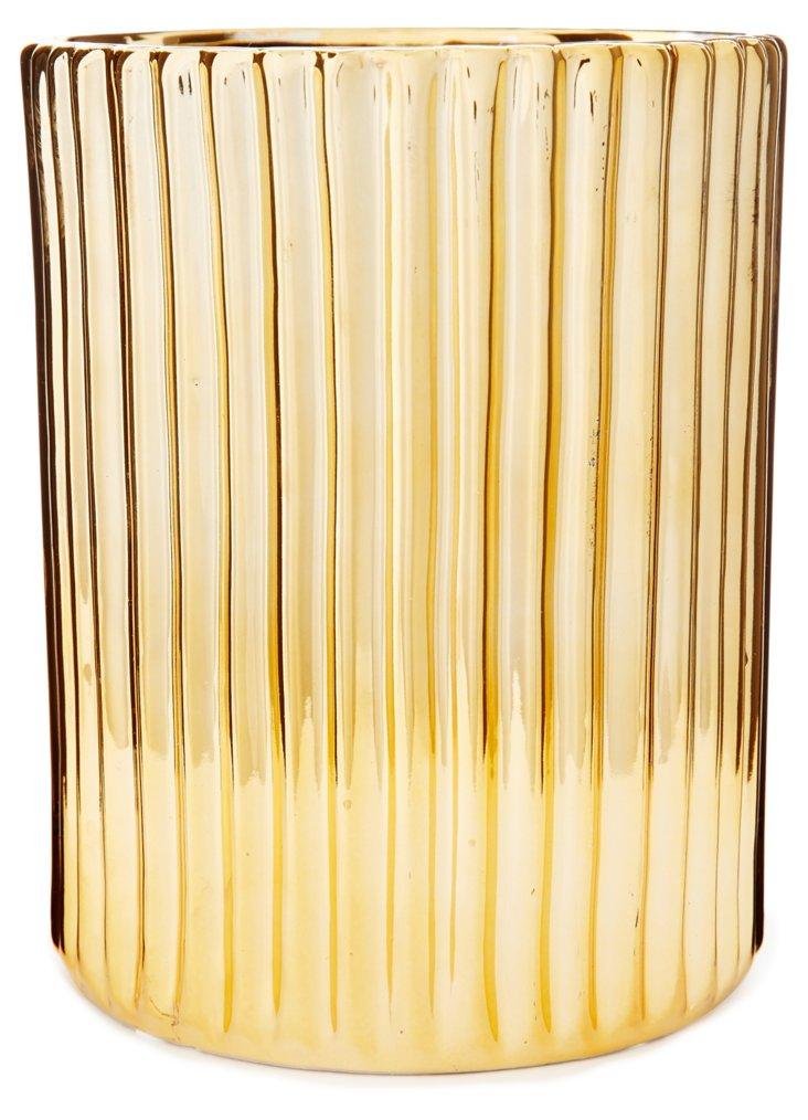 """8"""" Ceramic Vase w/ Lines"""