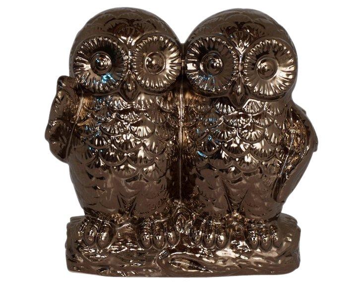 """9"""" Bronze Owls"""