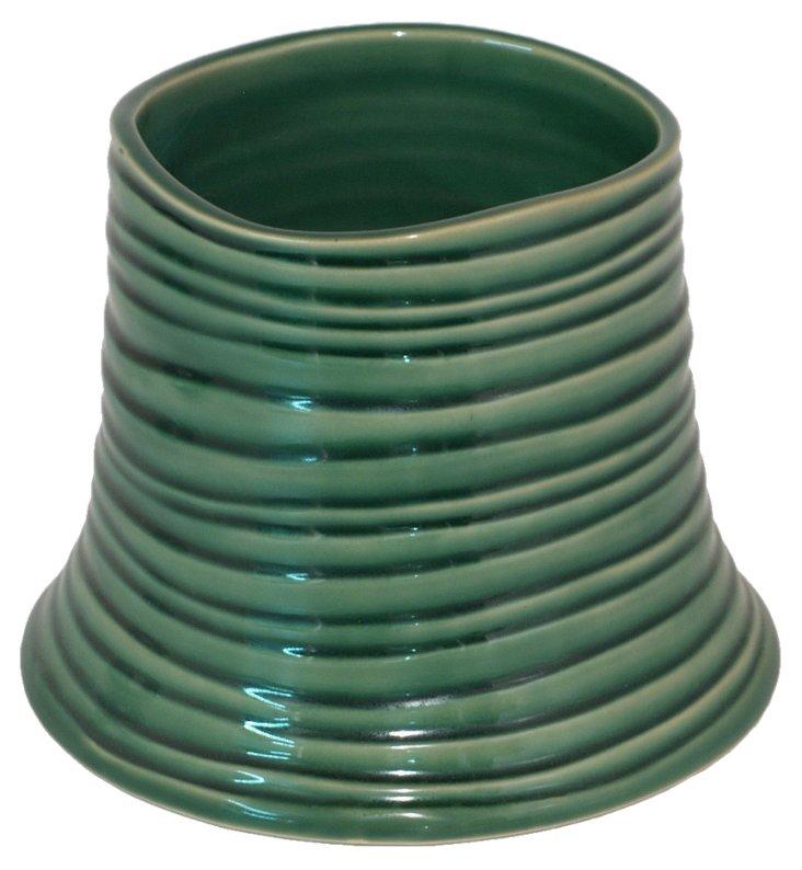"""5"""" Ceramic Vase, Green"""