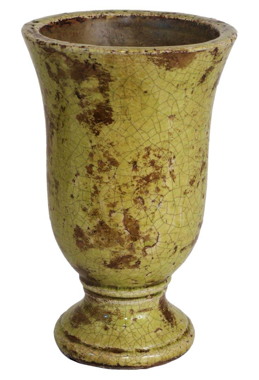 """10"""" Ceramic Vase, Green"""