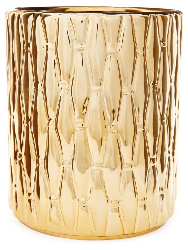 """8"""" Quilted Ceramic Vase"""