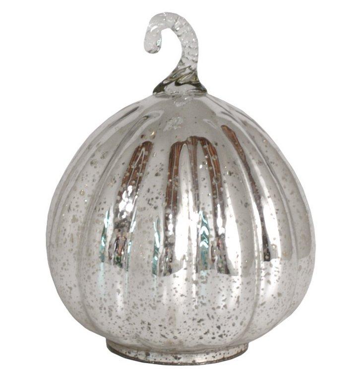 "8"" Mercury Glass Pumpkin"