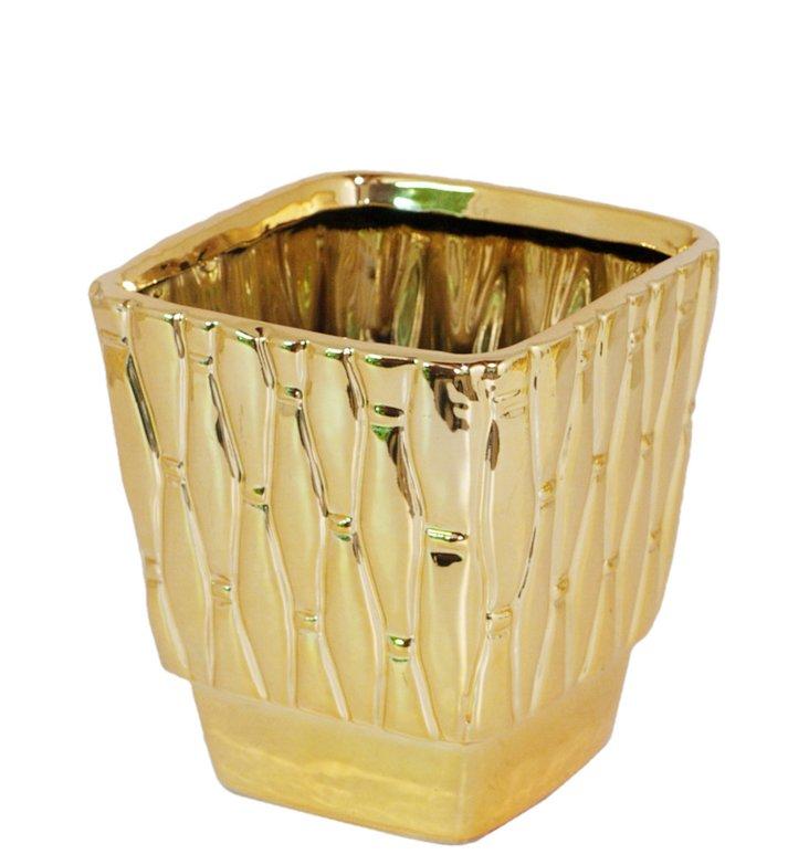 """6"""" Quilted Ceramic Planter"""