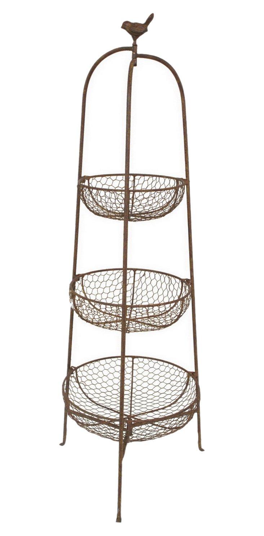 "40"" Three-Tier Plant Basket"