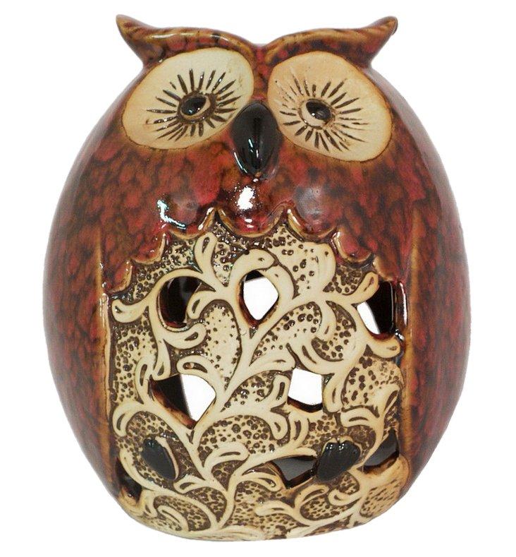"""7"""" Barn Owl Candleholder"""