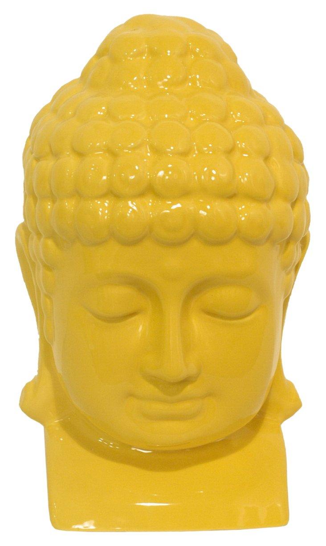 """13"""" Buddha Objet, Yellow"""