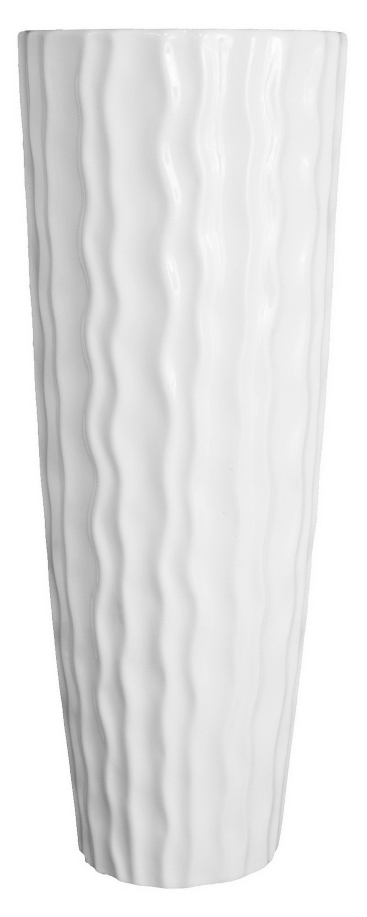 "18"" Grooved Vase"