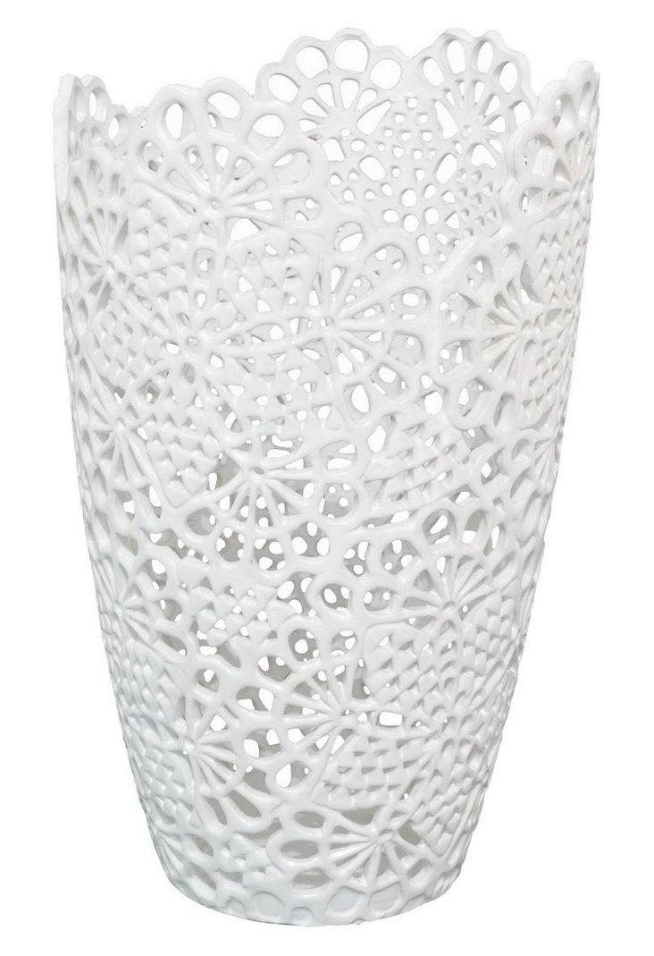 """16"""" Matte Lace Vase"""