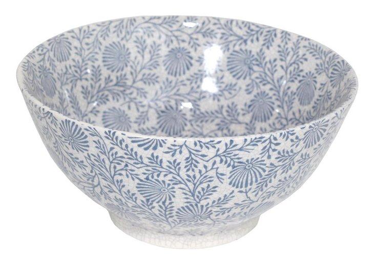 """10"""" Blue Floral Bowl"""