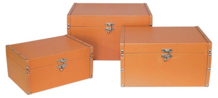 Asst. of 3 Square Boxes, Orange
