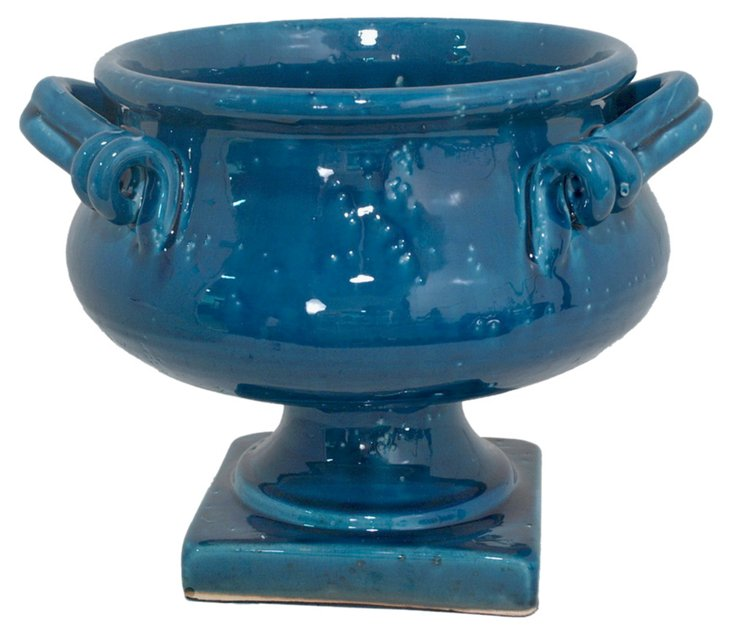 """14"""" Footed Entry Bowl, Blue"""