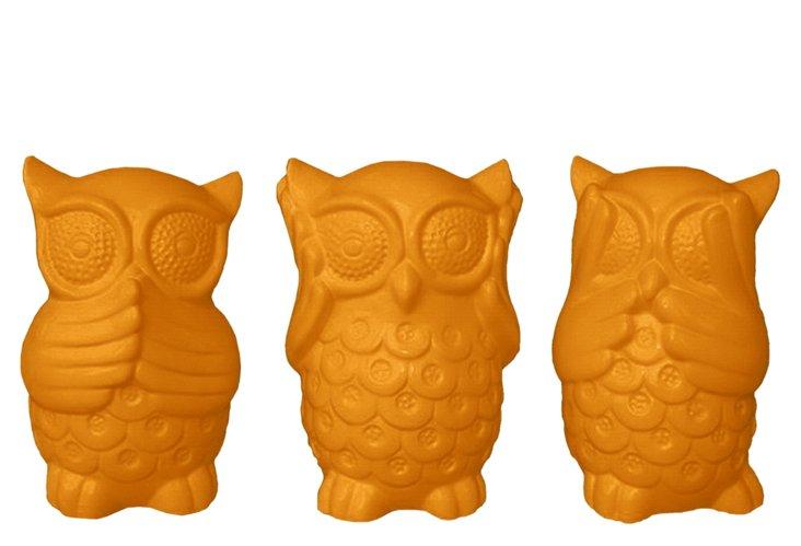 Orange Owls, Asst. of 3