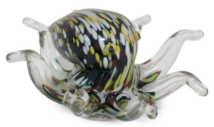 "6"" Glass Octopus, Black"