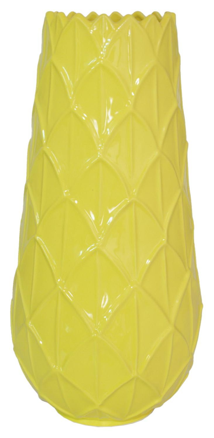 "20"" Lemon Scallop Vase, Yellow"