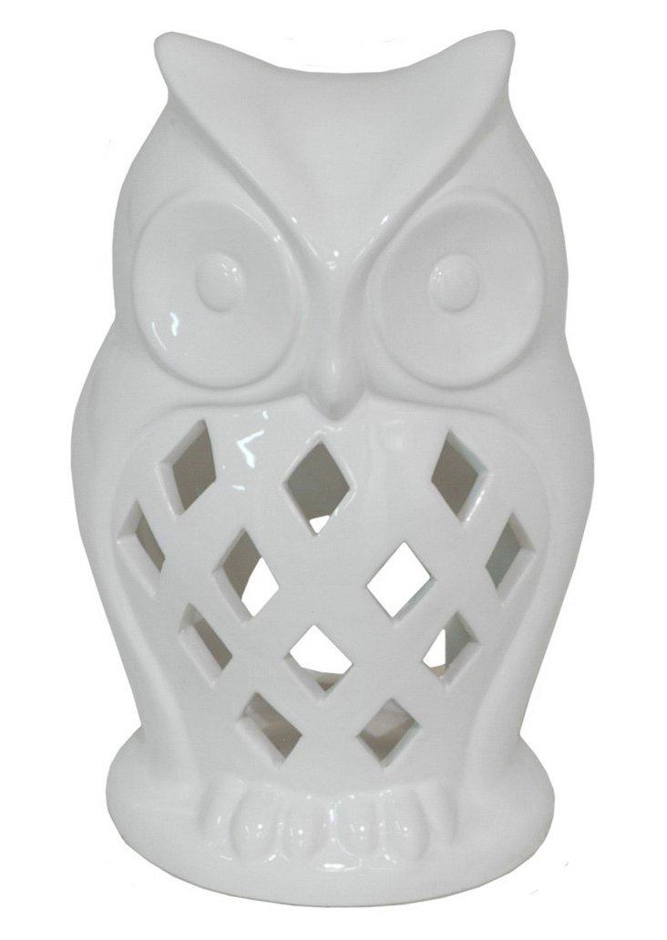 """8"""" Scalloped Owl Votive Holder"""