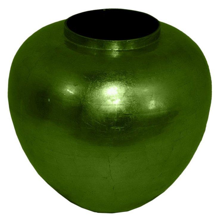 "11"" Bamboo Vase, Green"