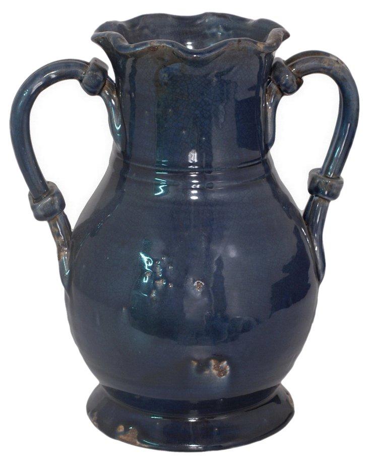 """12"""" Vase, Navy"""