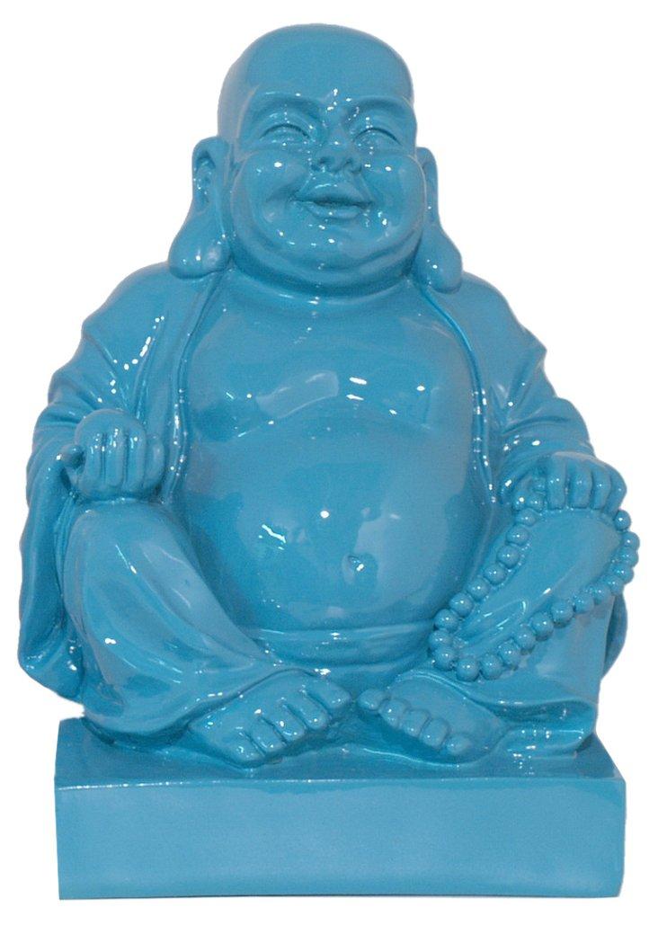 "11"" Buddha Figurine, Blue"