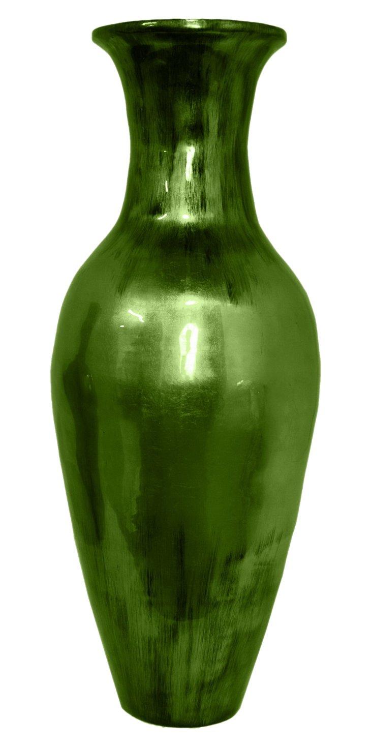 "36"" Bamboo Vase, Green"