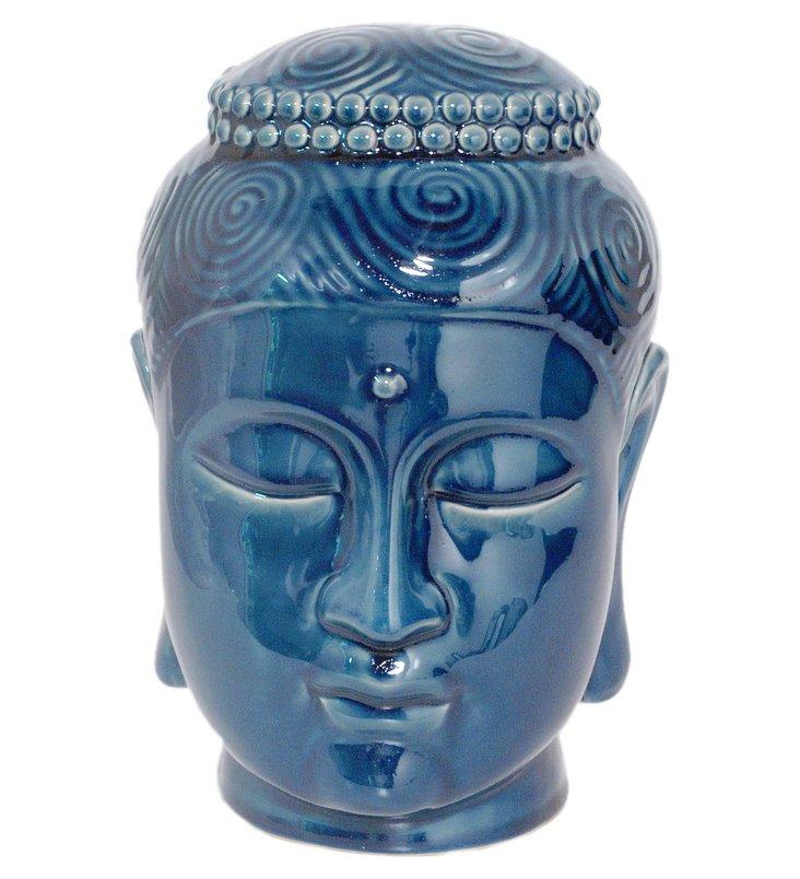 """11"""" Buddha Head, Blue"""