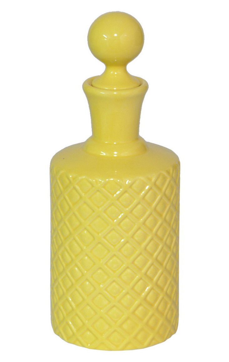 "10"" Del Ray Bottle, Yellow"