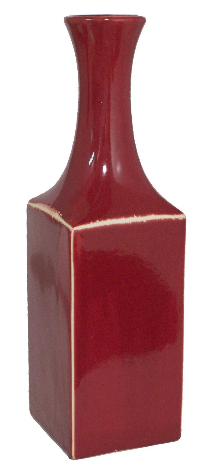 "16"" Edged Vase"