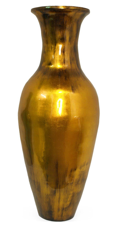 """36"""" Metallic Bamboo Vase, Gold"""
