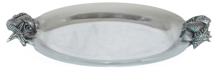 20x13 Oval Seashell Tray
