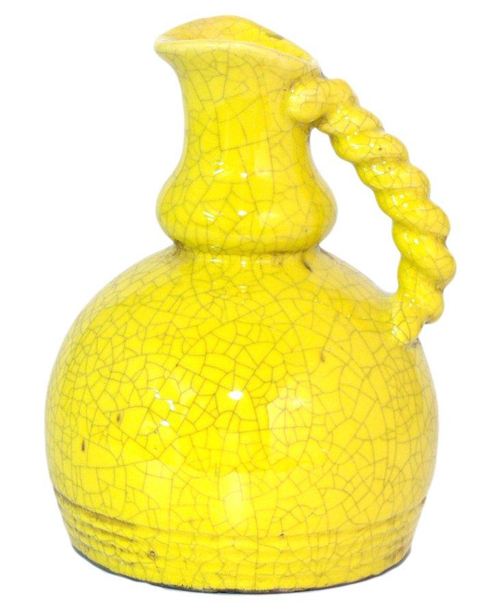"""10"""" Twist-Handle Sunshine Vase"""
