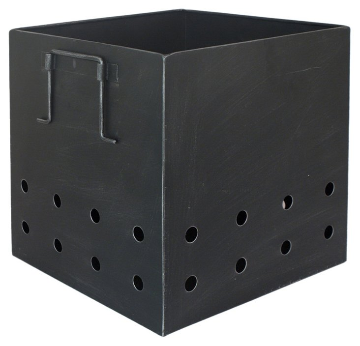 "14"" Hole-Border Metal Box"