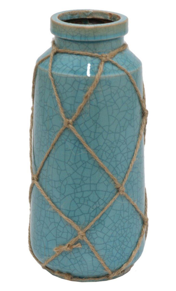 "11"" Cargo Vase, Blue"